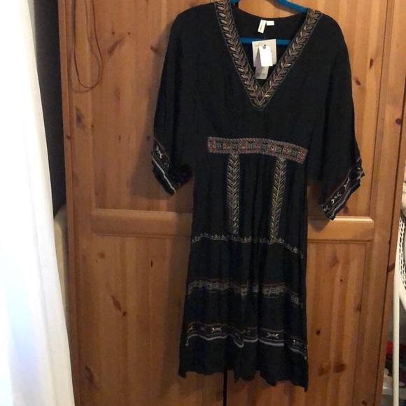 bl-nk Dresses & Skirts - Anthropologie black beaded/embroidered black dress